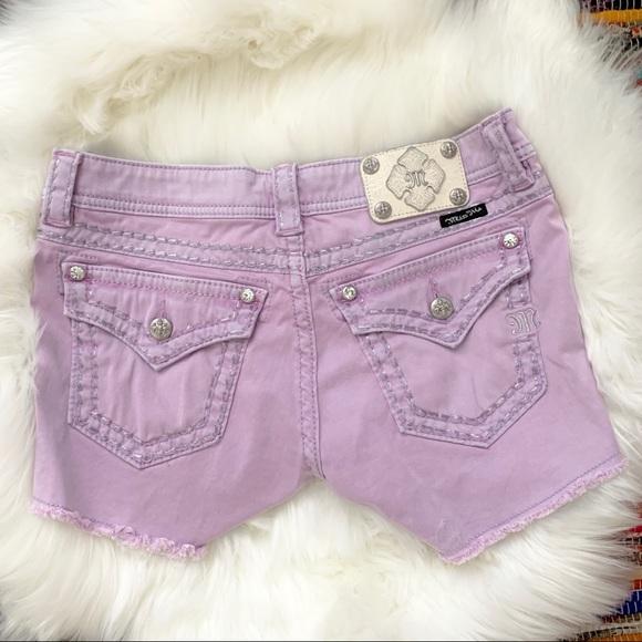 Miss Me Pants - Miss Me Purple Cargo Shorts